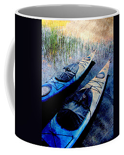Kayaks Resting W Metal Coffee Mug