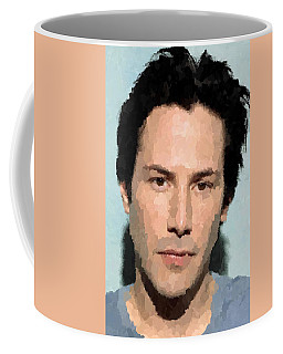Keanu Reeves Portrait Coffee Mug