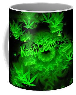 Keep Calm - Green Fractal Weed Art Coffee Mug