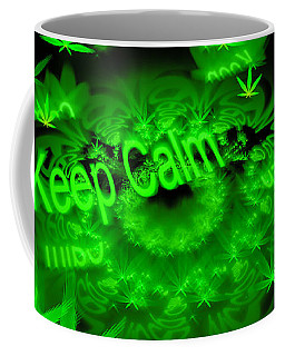Keep Calm - Green Fractal Weed Art Coffee Mug