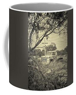 Coffee Mug featuring the digital art Keeping Watch by Erika Weber