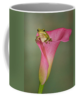 Kermit Peeking Out Coffee Mug