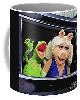 Kermit Takes Miss Piggy To The Movies Coffee Mug by Nina Prommer