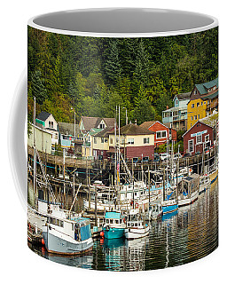 Ketchikan Harbor Coffee Mug by Steven Bateson