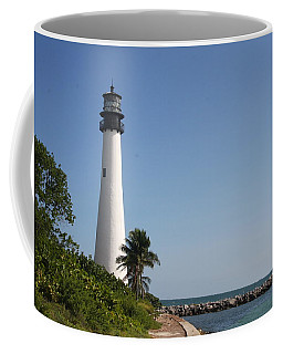 Coffee Mug featuring the photograph Key Biscayne Lighthouse by Christiane Schulze Art And Photography