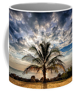 Key West Florida Lone Palm Tree  Coffee Mug