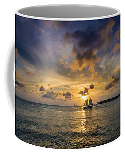 Coffee Mug featuring the photograph Key West Florida Sunset Mallory Square by Robert Bellomy