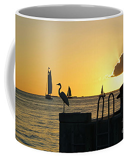 Coffee Mug featuring the photograph Key West Sunset by Olga Hamilton