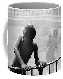 Kid In Sprinkler Coffee Mug