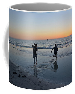 Coffee Mug featuring the photograph Kids At The Beach by Robert Meanor