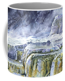 Killdeer Palisades - Mammoth Hot Springs Coffee Mug