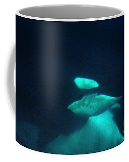 Coffee Mug featuring the photograph Killer Whales Orcas Under Water  Off The San Juan Islands 1986 by California Views Mr Pat Hathaway Archives