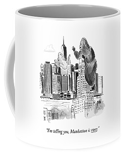 King Kong, Atop The Williamsburgh Savings Bank Coffee Mug