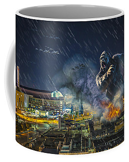 Coffee Mug featuring the photograph King Kong By Ford Field by Nicholas  Grunas