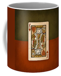 King Of Hearts In Wood Coffee Mug
