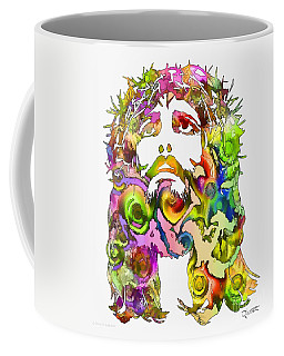 Coffee Mug featuring the painting King Of Not Of This World by Dave Luebbert