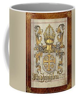 Kingdom Of Jerusalem Medieval Coat Of Arms  Coffee Mug
