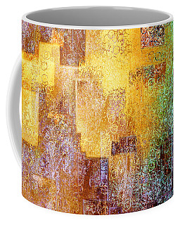 Coffee Mug featuring the painting Kingdom Within - Abstract Art by Jaison Cianelli