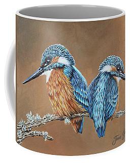 Coffee Mug featuring the painting Kingfishers by Jane Girardot