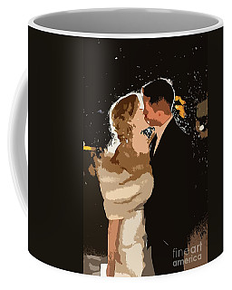 Coffee Mug featuring the painting Kiss by Catherine Lott
