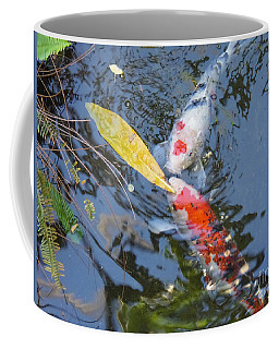 Kissin' Koi Coffee Mug by HEVi FineArt