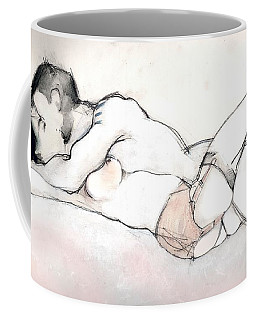 Kissing - Nude Couple In Love Coffee Mug