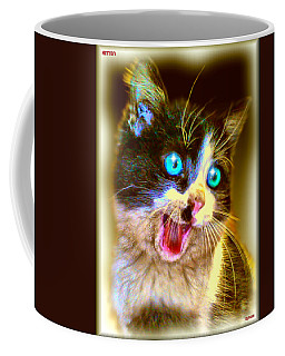 Coffee Mug featuring the painting Kitten by Daniel Janda