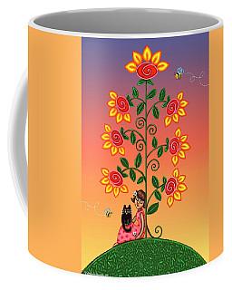Kitty And Bumblebees Coffee Mug