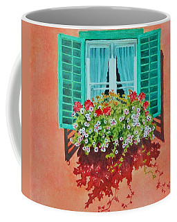 Kitzbuhel Window Coffee Mug by Mary Ellen Mueller Legault