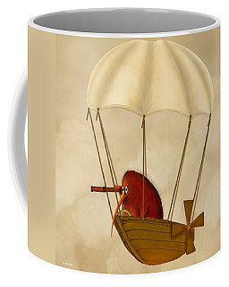 Kiwi Bird Kev's Airship Coffee Mug