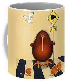 Kiwi Birds Crossing Coffee Mug