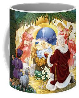 Kneeling Santa Nativity Coffee Mug