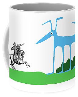 Knight With Armor And Cartoon Dog Facing Each Coffee Mug