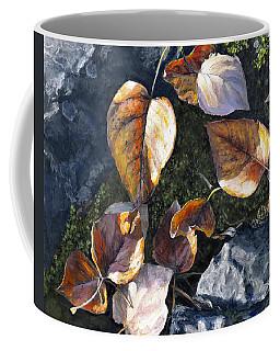 Knik River Autumn Leaves Coffee Mug