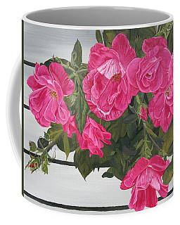 Knock Out Roses Coffee Mug by Wendy Shoults