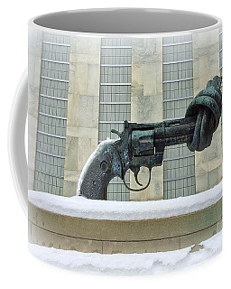 Knotted Gun Sculpture At The United Nations Coffee Mug