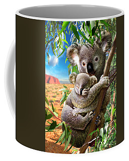Koala And Cub Coffee Mug