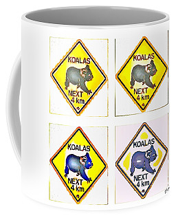 Koalas Road Sign Pop Art Coffee Mug