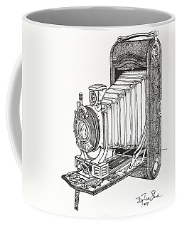 Coffee Mug featuring the drawing Kodak 3a Autographic by Ira Shander
