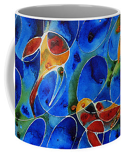 Koi Pond 2 - Liquid Fish Love Art Coffee Mug