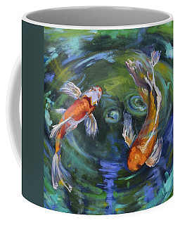 Koi Swirl Coffee Mug by Donna Tuten