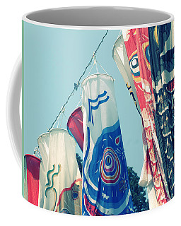 Coffee Mug featuring the photograph Koinobori Flags by Rachel Mirror