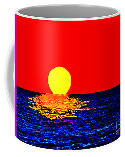 Kona Sunset Pop Art Coffee Mug by David Lawson