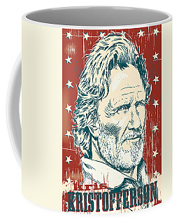 Kris Kristofferson Pop Art Coffee Mug