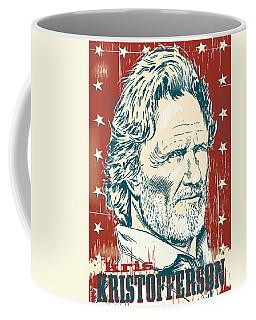 Kris Kristofferson Pop Art Coffee Mug by Jim Zahniser