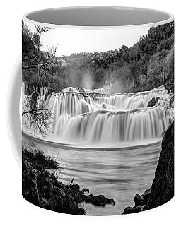Krka Waterfalls Bw Coffee Mug