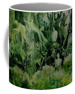 Coffee Mug featuring the painting Kudzombies by Elizabeth Carr