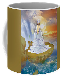 Kwan Yin - Goddess Of Compassion Coffee Mug by Lanjee Chee