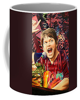Coffee Mug featuring the painting Kyle Hollingsworth At Hornin'gs Hideout by Joshua Morton