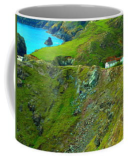 Coffee Mug featuring the photograph Kynance Cove by Rachel Mirror